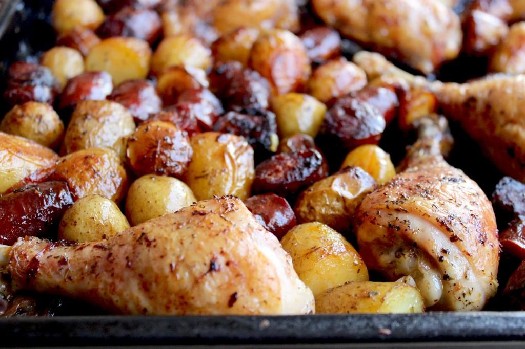 Kurczak pieczony z chorizo i młodymi ziemniaczkami 3