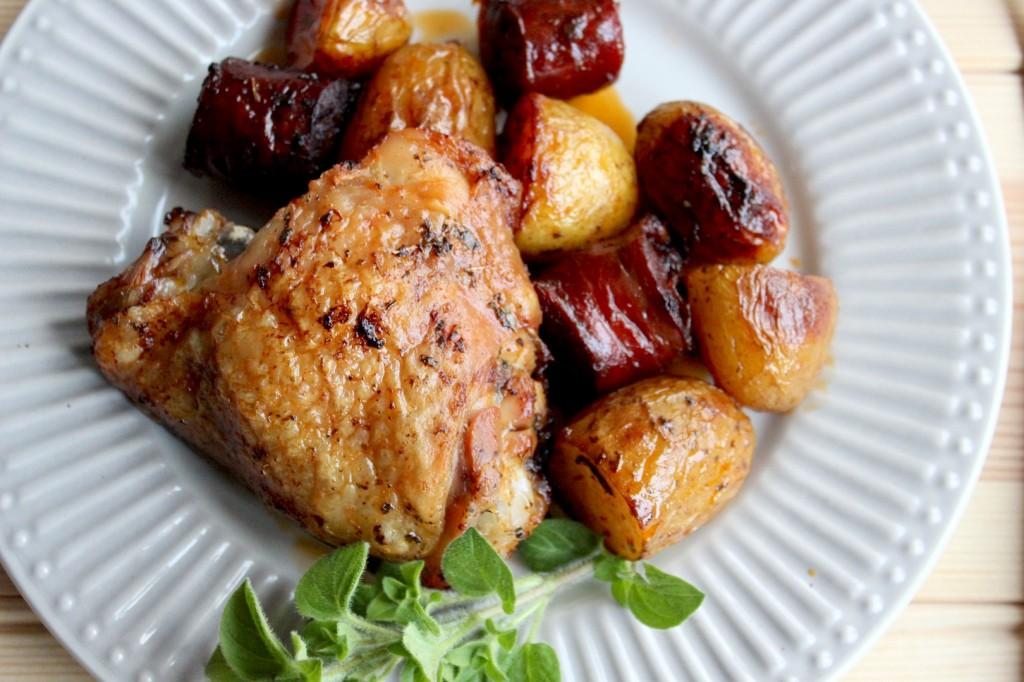 Kurczak pieczony z chorizo i młodymi ziemniaczkami 4