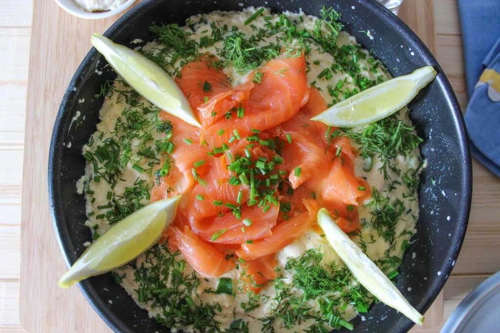 Frittata z wędzonym łososiem 1