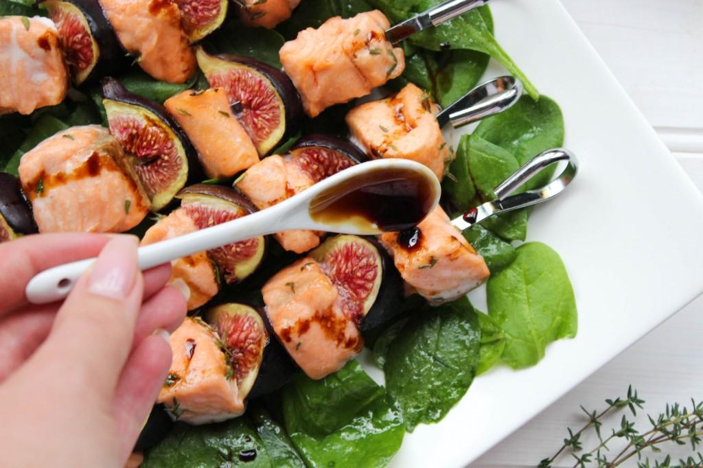 Szaszłyki z lososia i fig 2