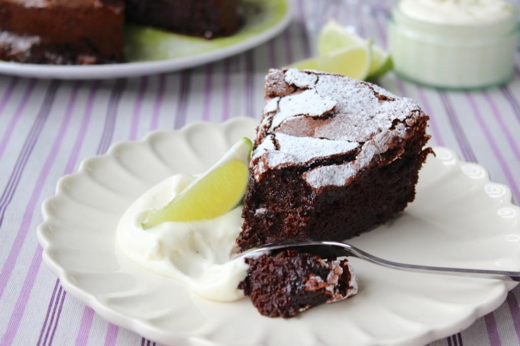 Ciasto czekoladowo-limonkowe 1