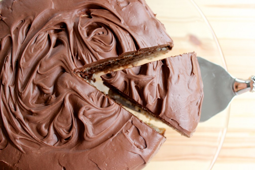 Migdałowy dacquoise z kremem czekoladowy 1