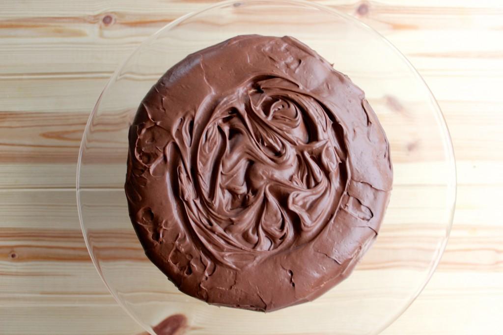 Migdałowy dacquoise z kremem czekoladowy 2
