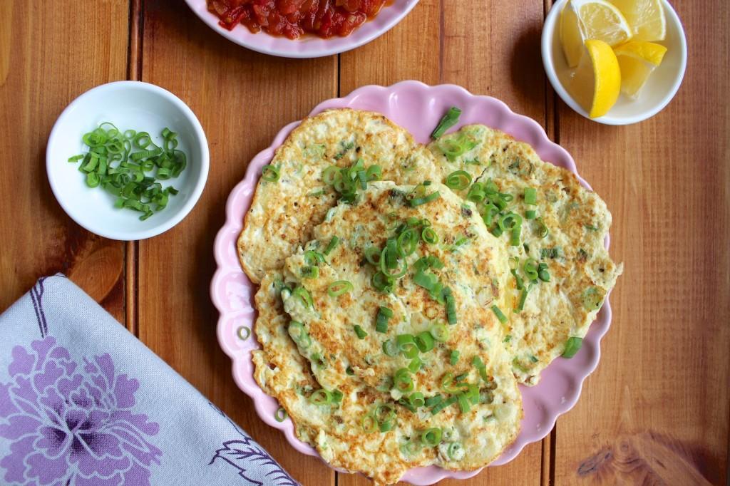 Omlety z tofu i szczypiorkiem 1