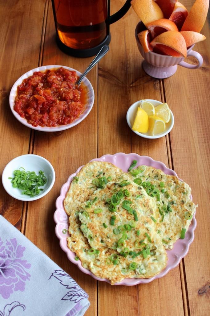 Omlety z tofu i szczypiorkiem 2