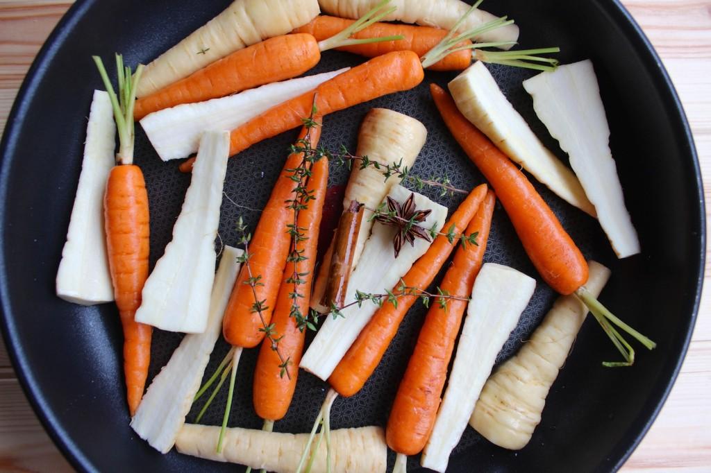 Glazurowane warzywa  2