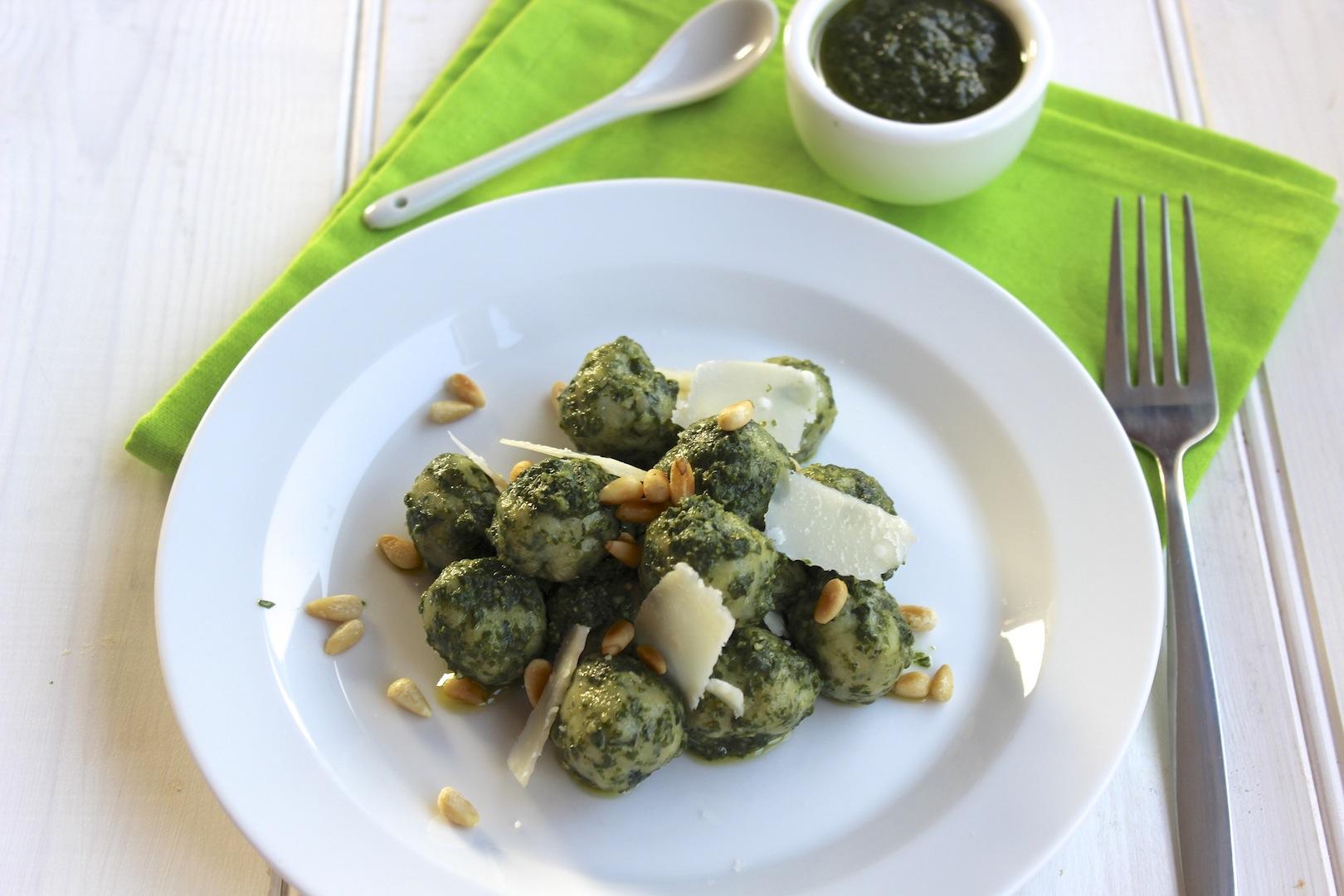 Gnocchi szpinakowe z pesto 1
