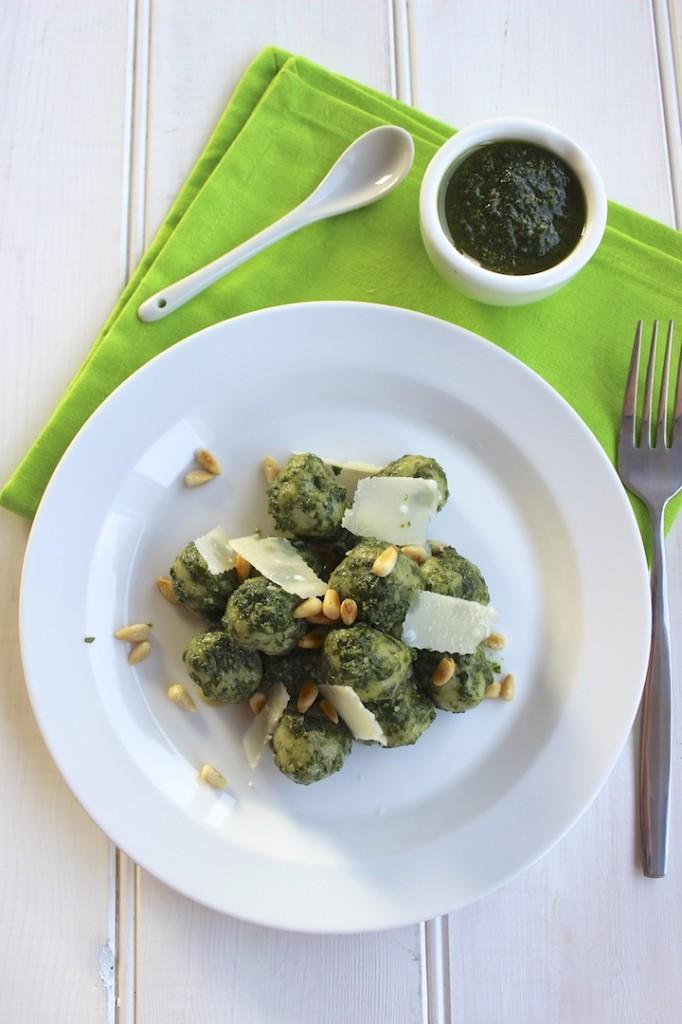 Gnocchi szpinakowe z pesto 2