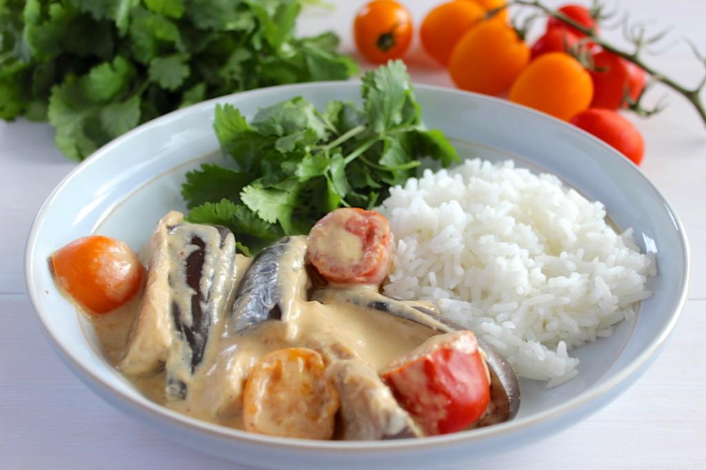 Curry z bakłażanem i pomidorami 1