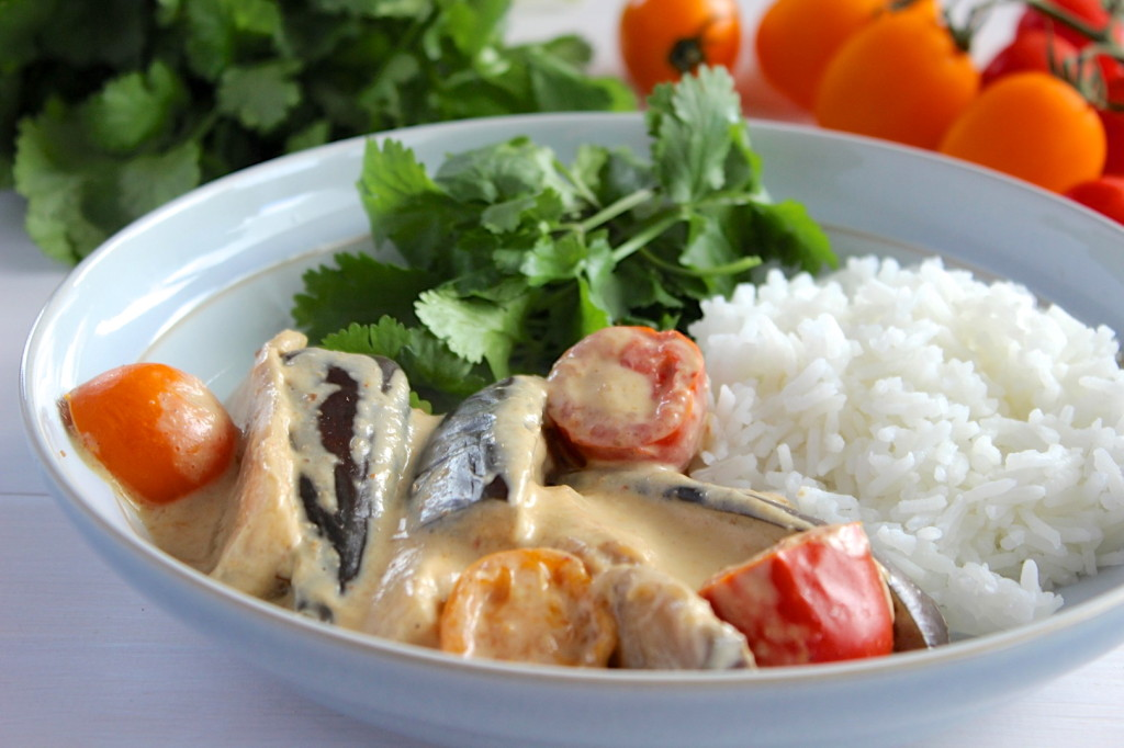 Curry z bakłażanem i pomidorami 2