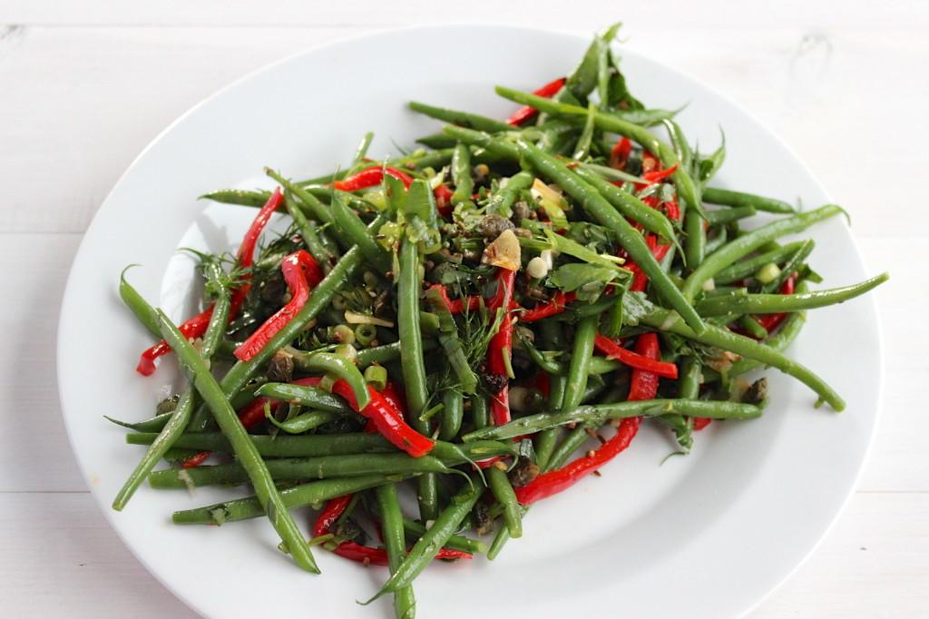 Sałatka z fasolki szparagowej 1