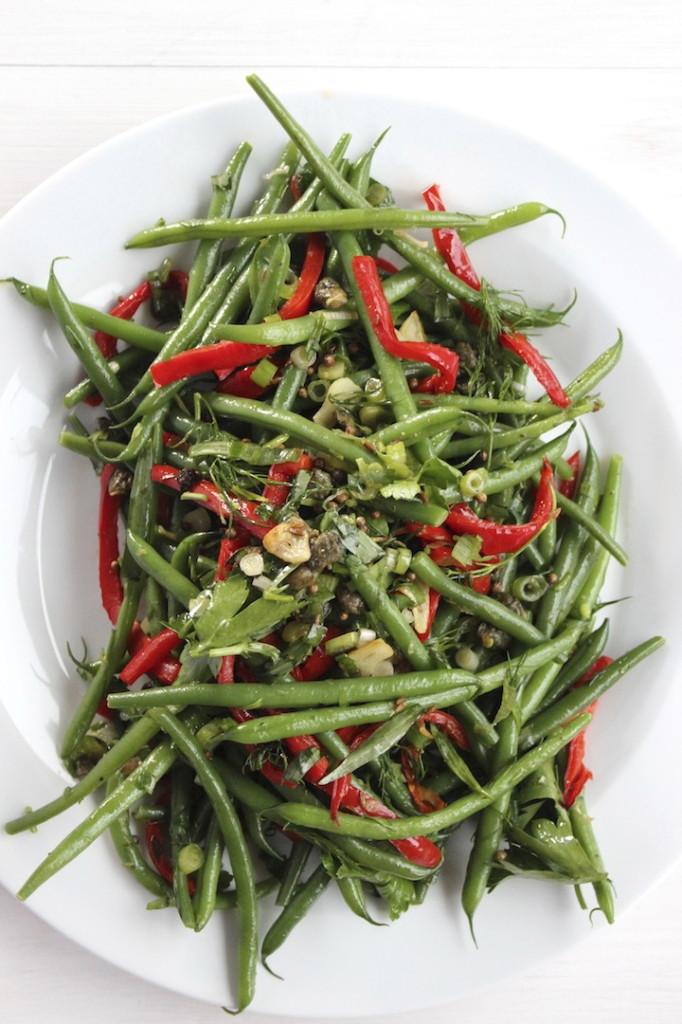 Sałatka z fasolki szparagowej 2