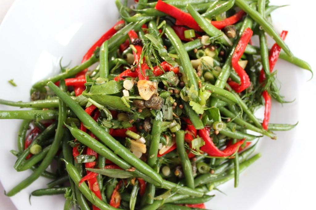 Sałatka z fasolki szparagowej 4
