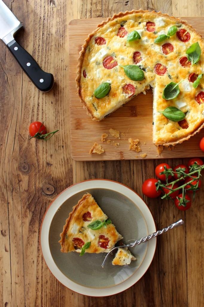 Tarta z fetą i pomidorkami cherry 3