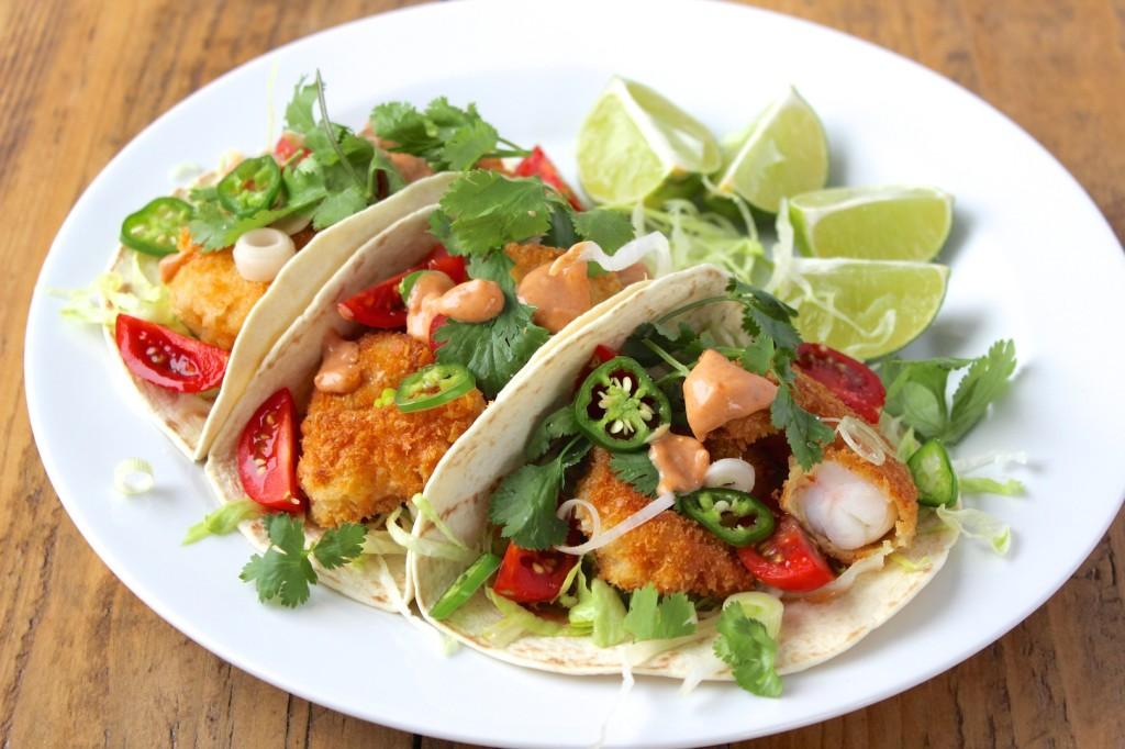 Taco z krewetkami i pomidorkami 2