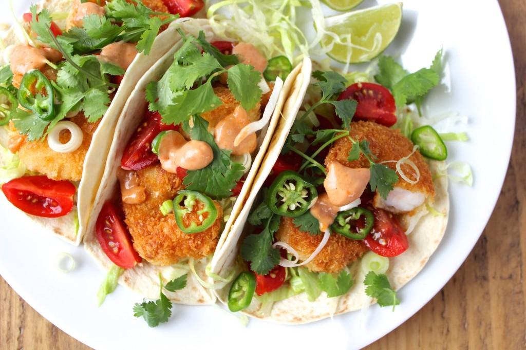 Taco z krewetkami i pomidorkami 3
