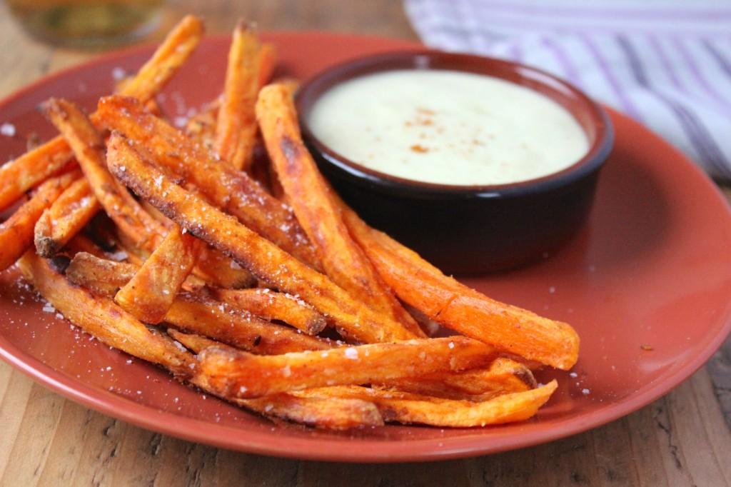 Pieczone frytki ze słodkich ziemniaków 3