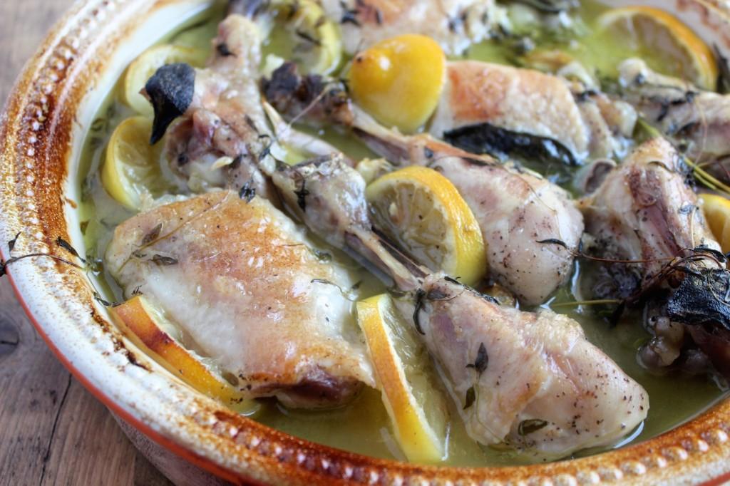 Kurczak w cytrynach i białym winie 2