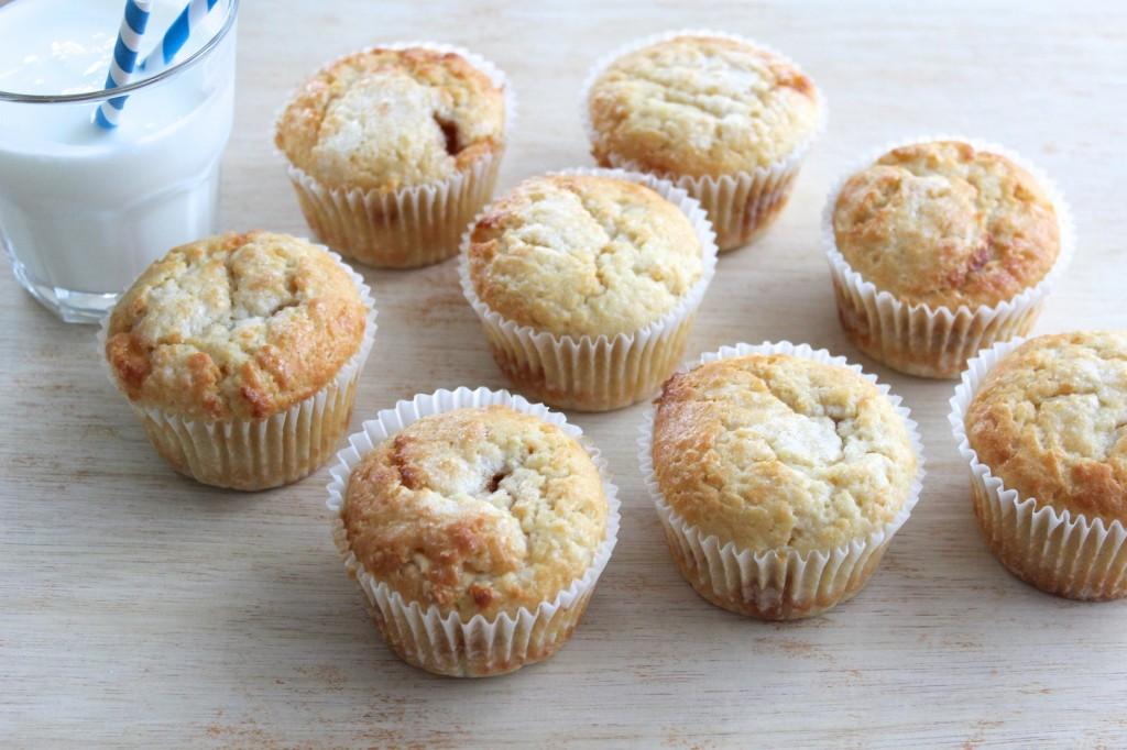 Muffinki z karmelizowanymi bananami 1