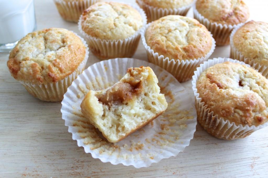 Muffinki z karmelizowanymi bananami 3