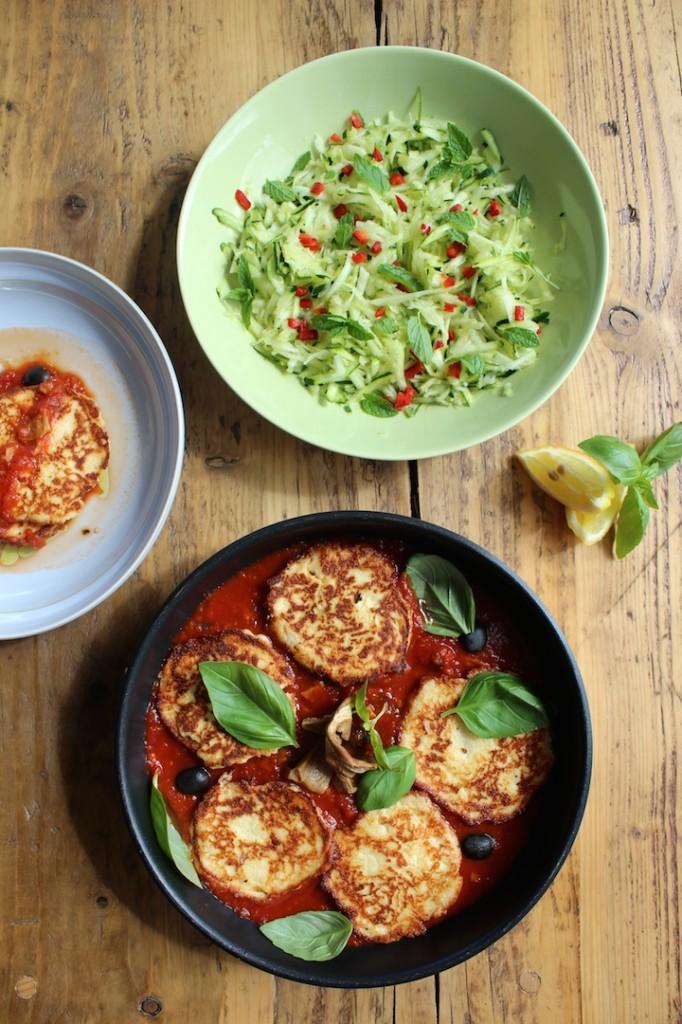Racuchy z ricotty w sosie pomidorowym 2