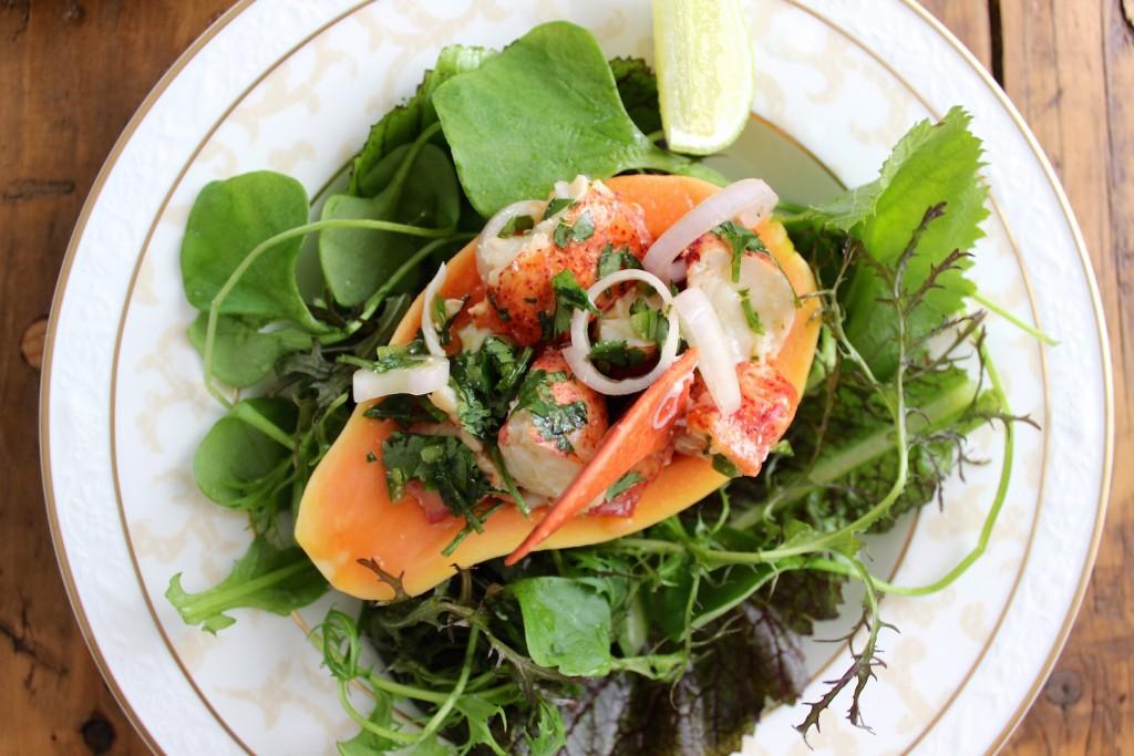 Sałatka z papają i homarem 3