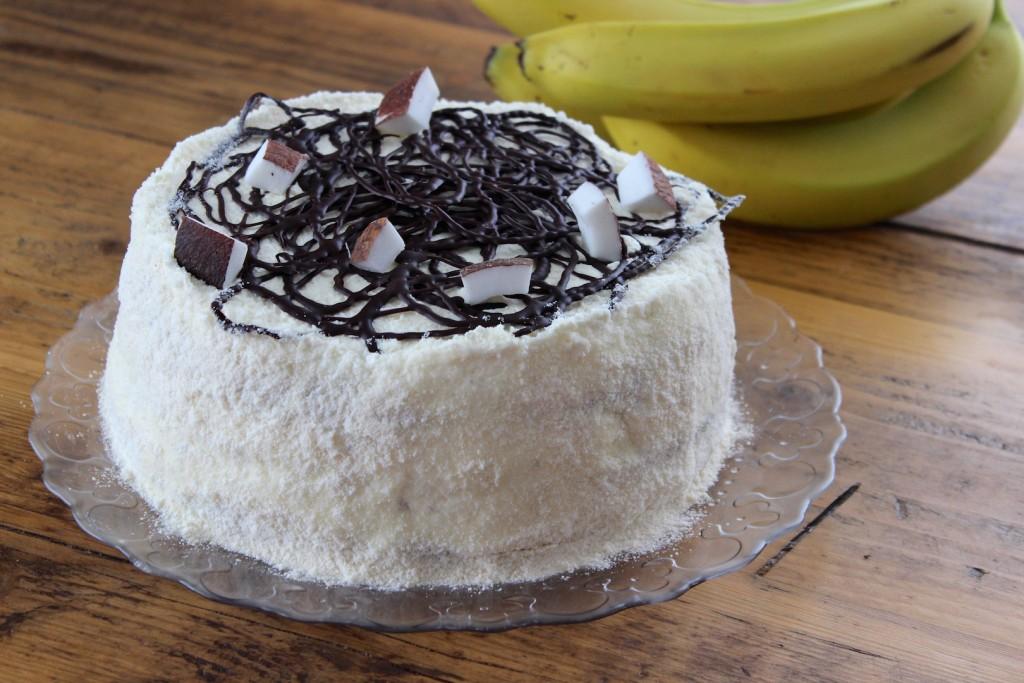Tort bananowo-kokosowy 1
