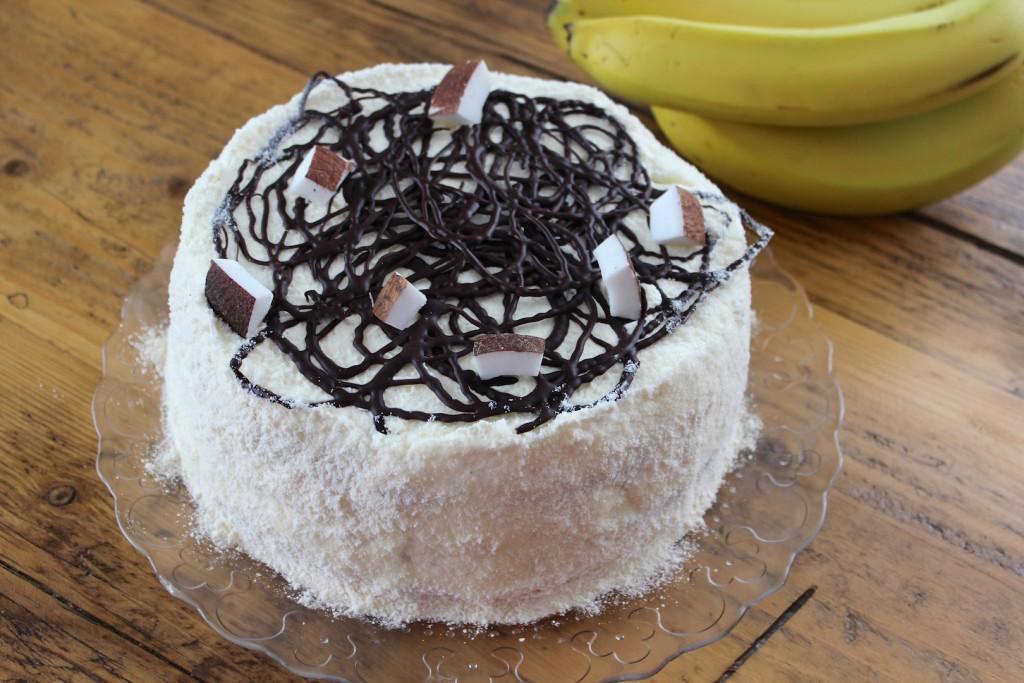 Tort bananowo-kokosowy 2