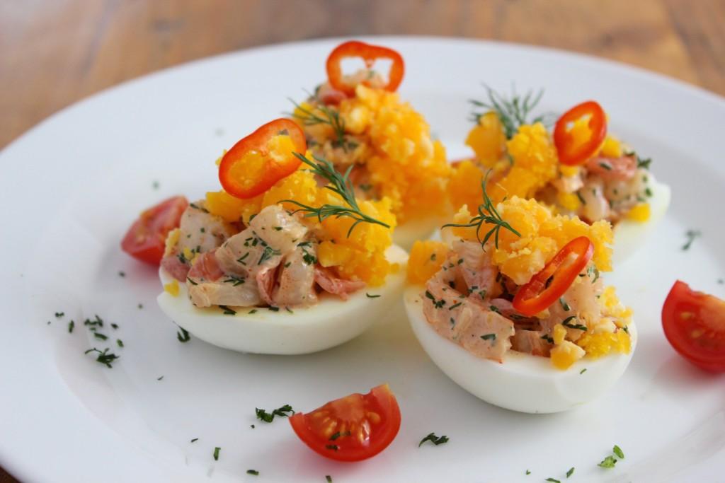 Jajka nadziewane krewetkami 1