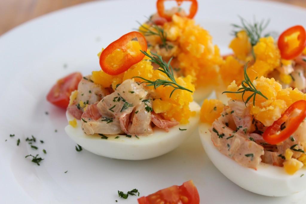 Jajka nadziewane krewetkami 2