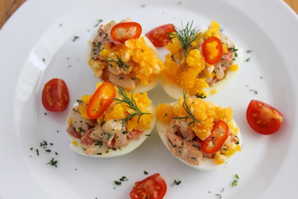 Jajka nadziewane krewetkami 3