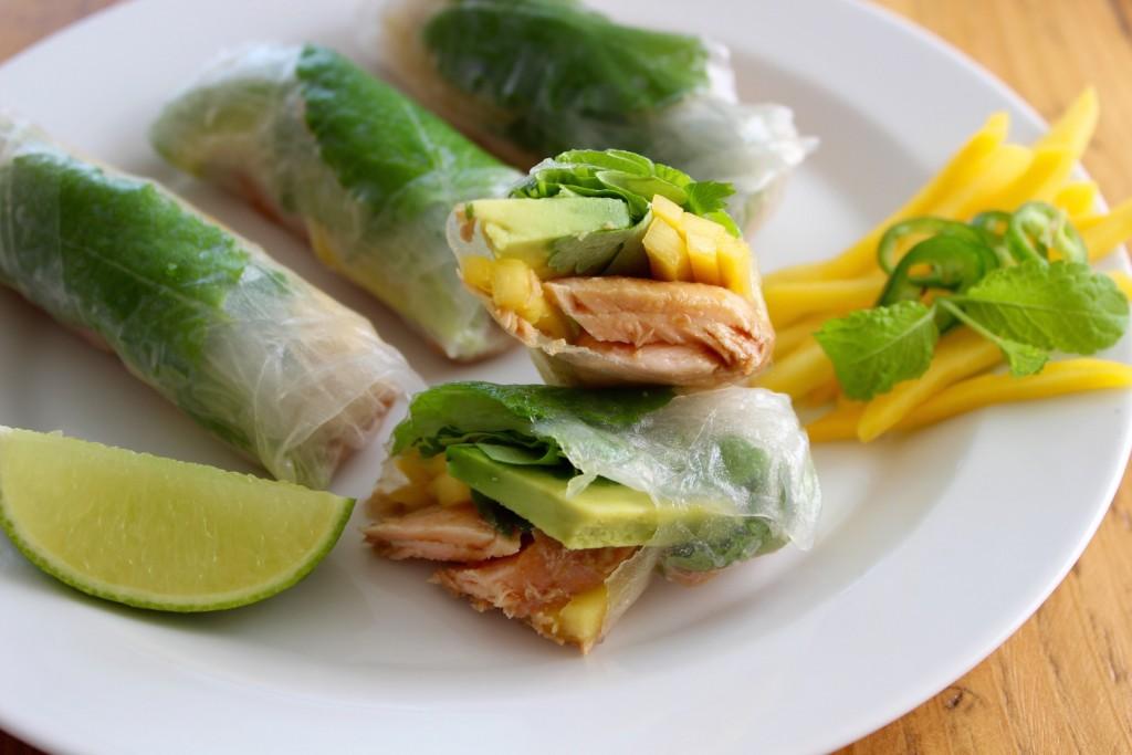 Summer Rolls z łososiem i mango 4