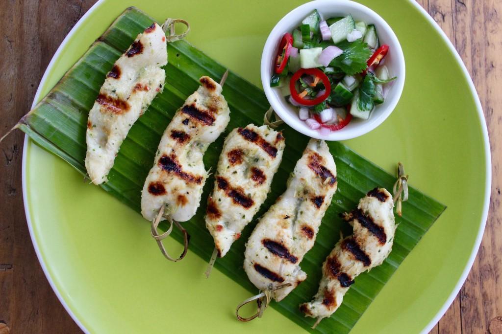 Tajskie szaszłyki z kurczaka 1
