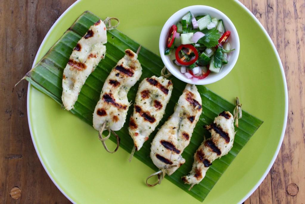 Tajskie szaszłyki z kurczaka 2