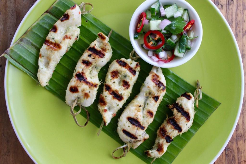 Tajskie szaszłyki z kurczaka 3