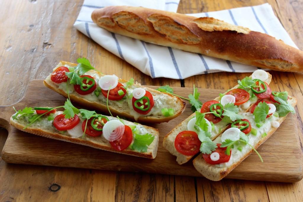 Zapiekanki z gorgonzolą i pomidorem 1