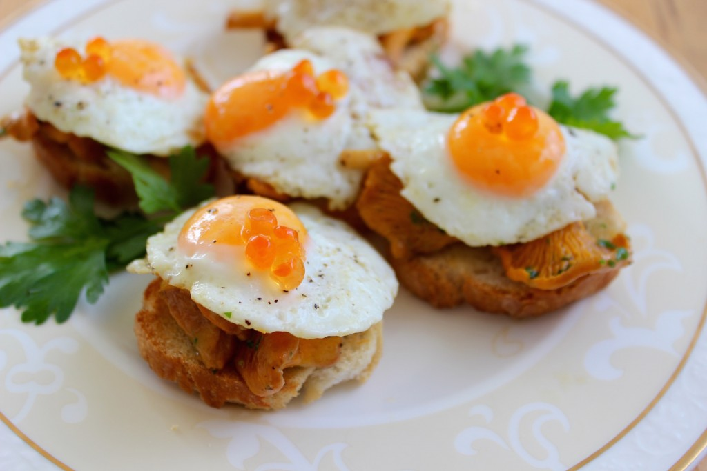 Kanapeczki z kurkami jajkami przepiorczymi 1
