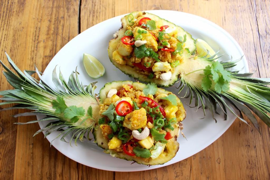 Ryż smażony z ananasem i dorszem 5