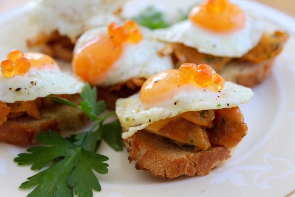 anapeczki z kurkami jajkami przepiorczymi 2