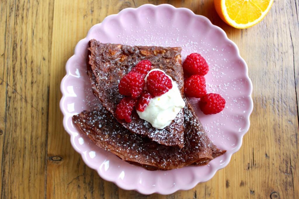 Naleśniki czekoladowe – z mąki jaglanej 3