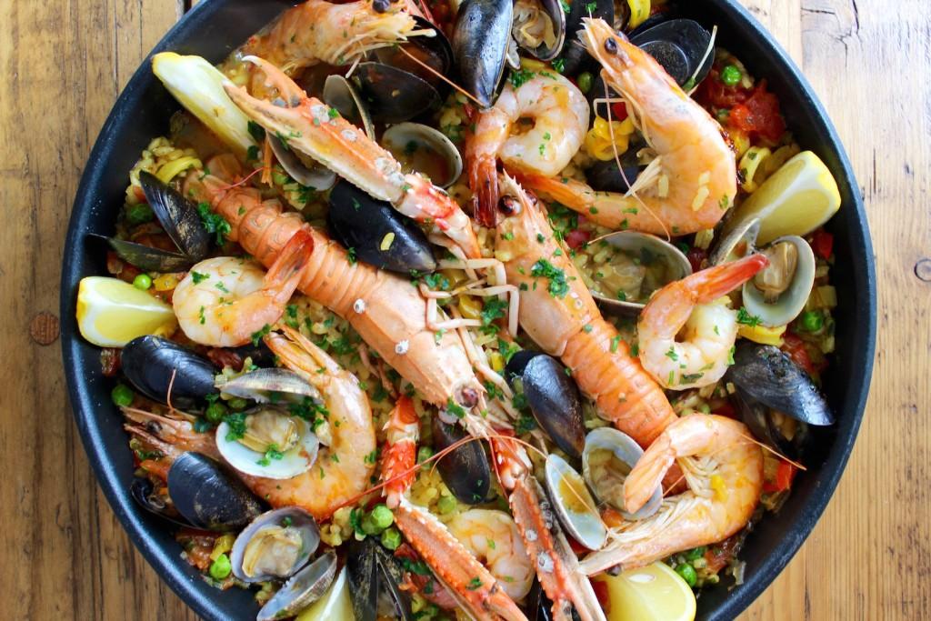 Paella z owocami morza 2